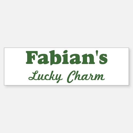 Fabians Lucky Charm Bumper Bumper Bumper Sticker