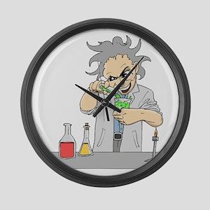 Mad Scientist Large Wall Clock