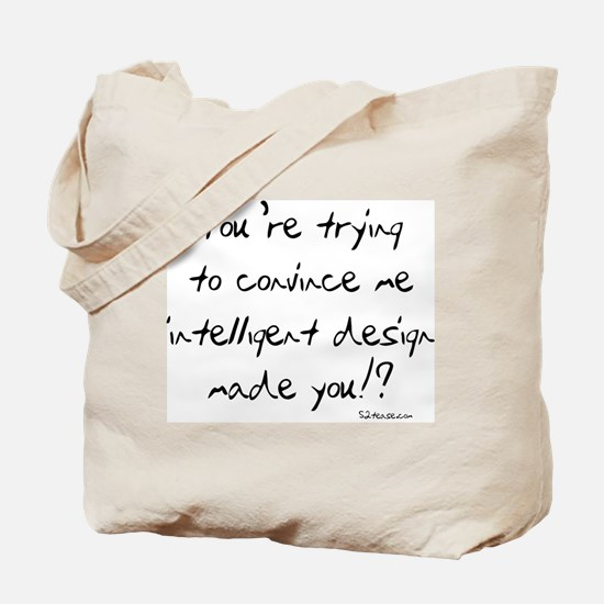 Intelligent Design Parody Tote Bag