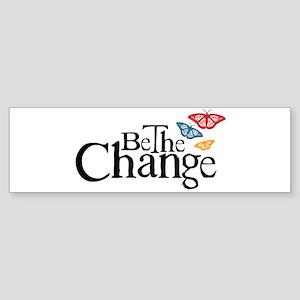 Gandhi - Change - Butterfly Bumper Sticker