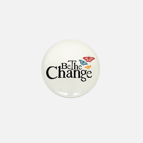 Gandhi - Change - Butterfly Mini Button