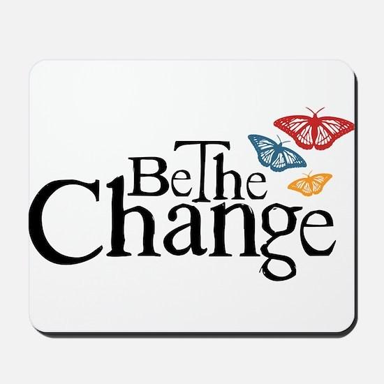 Gandhi - Change - Butterfly Mousepad