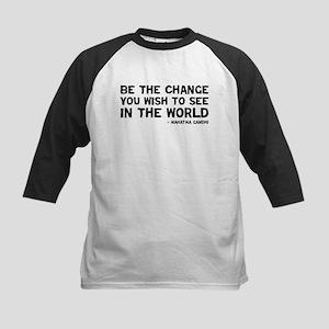 Quote - Gandhi - Change Kids Baseball Jersey