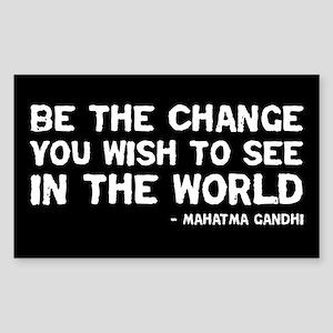 Quote - Gandhi - Change Rectangle Sticker