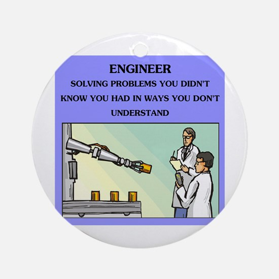 engineer engineering joke Ornament (Round)