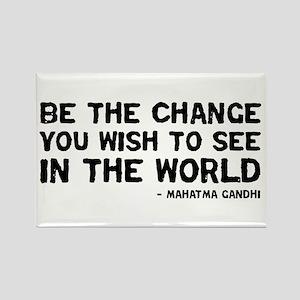 Quote - Gandhi - Change Rectangle Magnet