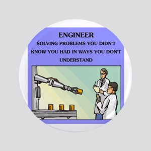 "engineer engineering joke 3.5"" Button"