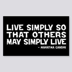 Quote - Gandhi - Live Simply Rectangle Sticker
