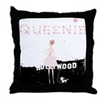 Hollywood Queenie Throw Pillow