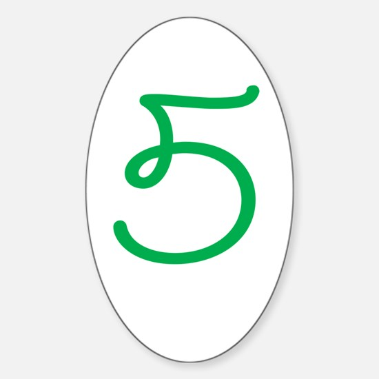 Age 5 (5th Birthday) Oval Decal