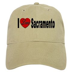 I Love Sacramento California Baseball Cap