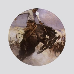Breezy Riding by Koerner Ornament (Round)