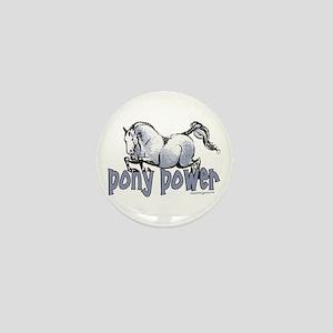 Jumping Pony Mini Button