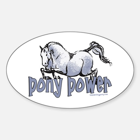 Jumping Pony Oval Decal