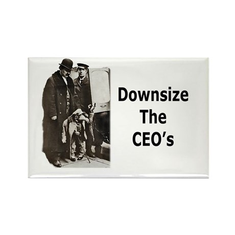 Downsize CEO's Rectangle Magnet (10 pack)
