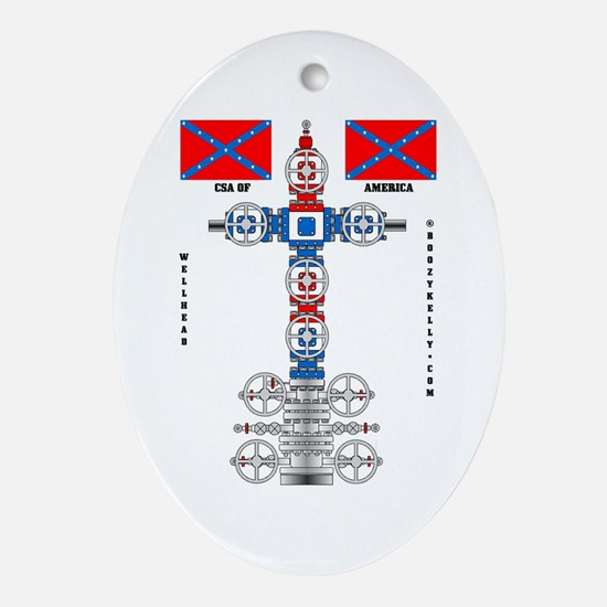 Confederate States Wellhead Oval Ornament