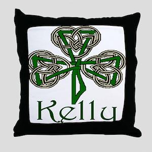 Kelly Shamrock Throw Pillow