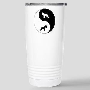 Yin Yang Schnauzer Stainless Steel Travel Mug