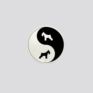 Yin Yang Schnauzer Mini Button