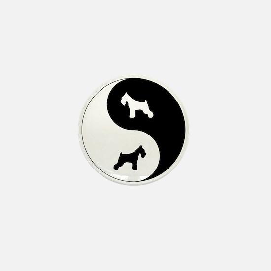 Yin Yang Schnauzer Mini Button