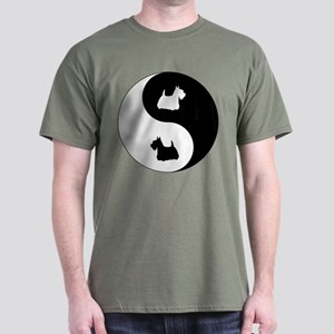 Yin Yang Scottie Dark T-Shirt