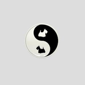 Yin Yang Scottie Mini Button