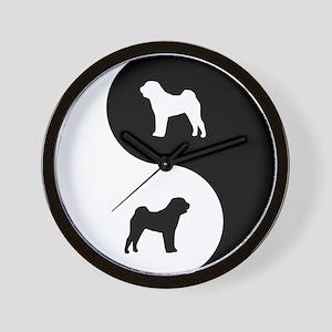 Yin Yang Shar Pei Wall Clock