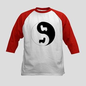 Yin Yang Silky Kids Baseball Jersey