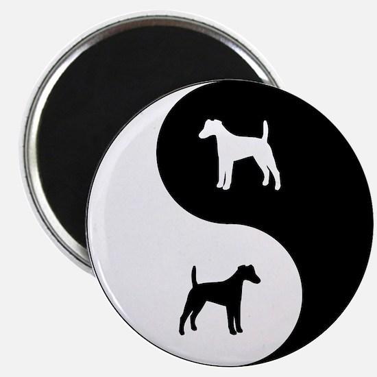 Yin Yang Smooth Fox Magnet