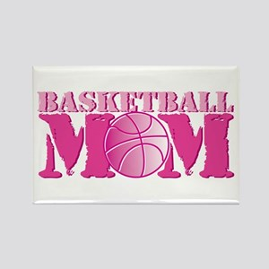Basketball Mom Pink Rectangle Magnet