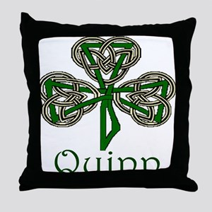 Quinn Shamrock Throw Pillow