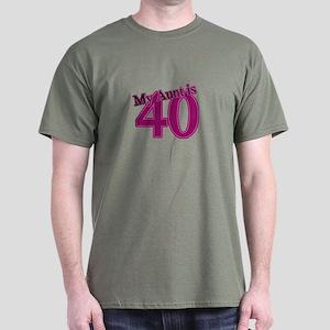 Aunt's 40th Birthday Dark T-Shirt