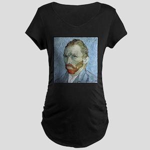 """Faces """"Van Gogh"""" Maternity Dark T-Shirt"""