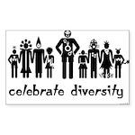 Alien Diversity Rectangle Sticker