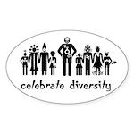 Alien Diversity Oval Sticker