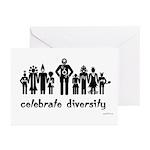Alien Diversity Greeting Cards (Pk of 10)