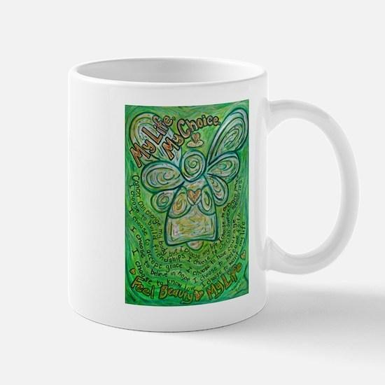 My Life Green Cancer Angel Mug