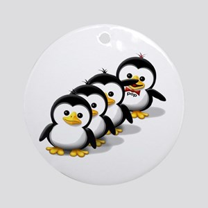 Flock of Penguins Ornament (Round)