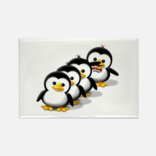 Flock of Penguins Rectangle Magnet (100 pack)