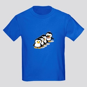 Flock of Penguins Kids Dark T-Shirt