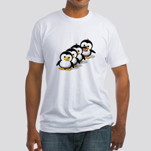 Flock of Penguins Fitted T-Shirt