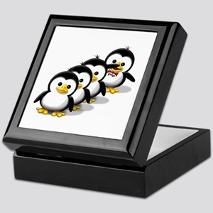 Flock of Penguins Keepsake Box