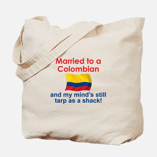 Married to a Colombian Tote Bag