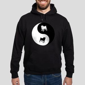 Yin Yang Pug Hoodie (dark)
