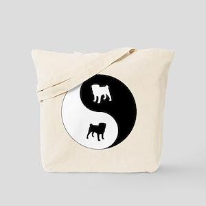 Yin Yang Pug Tote Bag