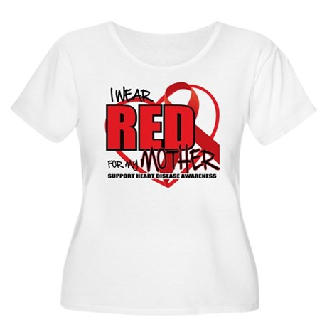 HD: Red For Mom Women's Plus Size Scoop Neck T-Shi