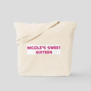 Nicole's Sweet Sixteen Tote Bag
