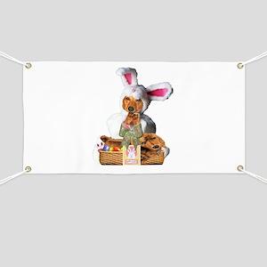 Easter Bunny Tiger Banner