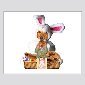 Easter Bunny Tiger Small Poster