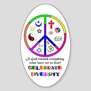 Embrace Creation Oval Sticker